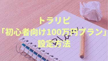 トラリピを運用資金100万円で設定する「初心者月収1万円プラン」をご紹介