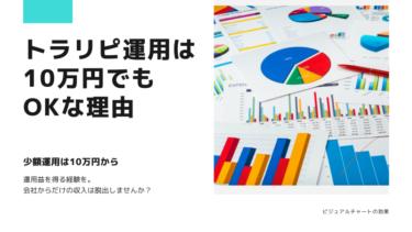 トラリピ運用の最低資金は10万円でもOKな理由!初心者が知りたい運用開始法