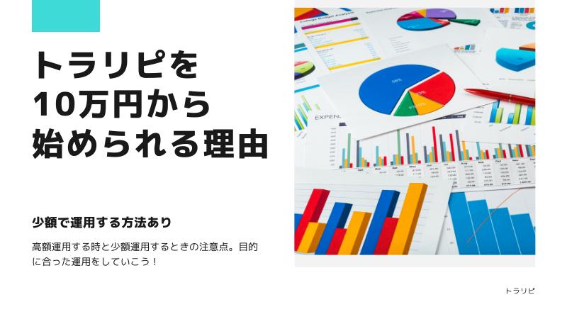 トラリピの予算は10万円から始められる理由