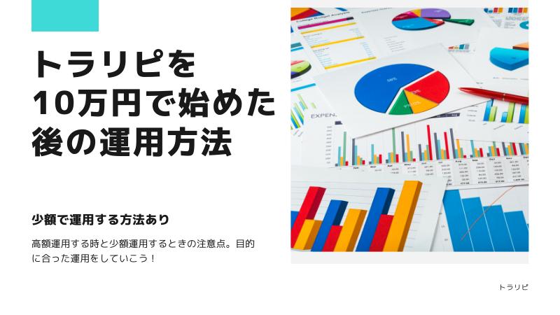 トラリピ予算10万円で始めた後の運用方法はどうすべきか?
