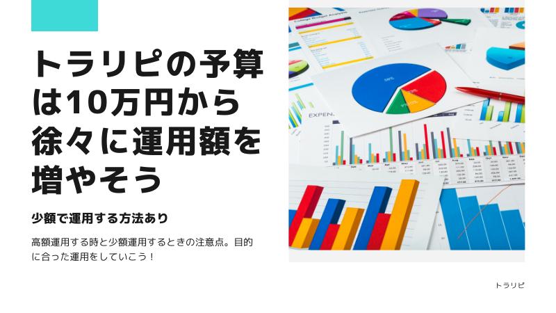 まとめ:トラリピの予算は10万円から可能!徐々に運用額を増やしていこう